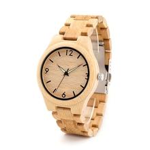 БОБО ПТИЦА Новый Бренд Древесины Бамбука Мужчины Причинные неподдельной Натуральной Кожи Часы Luxuly женщин Наручные Часы, как Рождественские Подарки D27