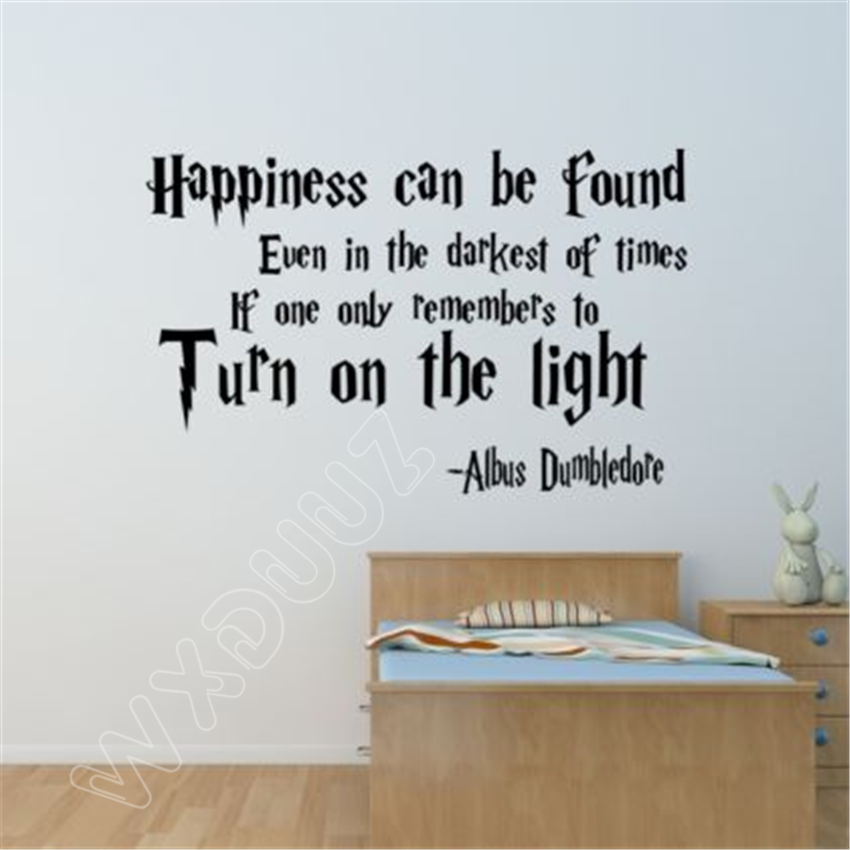 Harry Potter Happiness Can Be Found Vinyl Quote Decals Wall Stickers Home Decor