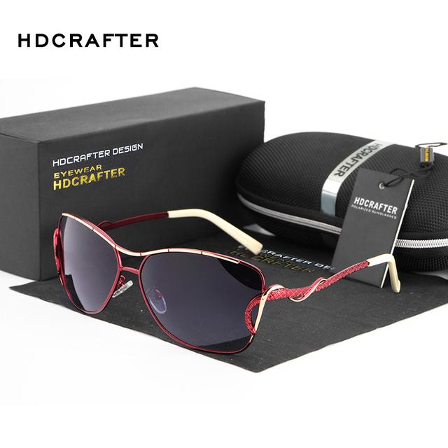 HDCRAFTER Hot Sale Da Moda mulheres polarizada óculos de sol de Marca de alta qualidade espelho de Condução ao ar livre óculos de Sol oculos de sol UV400