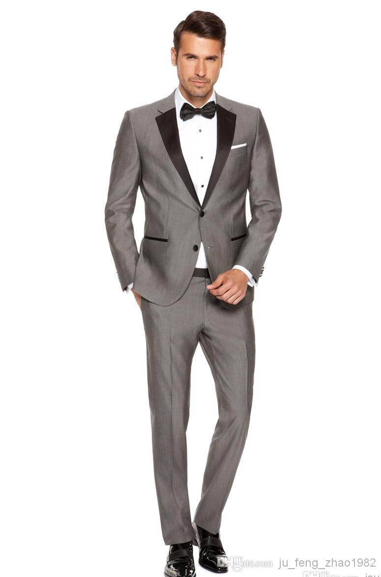 Blazers For Men Suits Custom Made Men 39 S Fashion Wedding Morning Groom Gray Tuxedos Business Prom