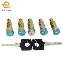 OE 6707600205 FIVE PCS DOOR LOCK BARRELS WITH 2 SAME KEYS FOR VW LT MERCEDES SPRINTER VITO W638 ANY DOOR  BRAND NEW