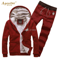 New Arrival 2015 Hot Sales Mens Fashion Casual Hoodies Autumn Winter Warm Hooded Fleece Suits