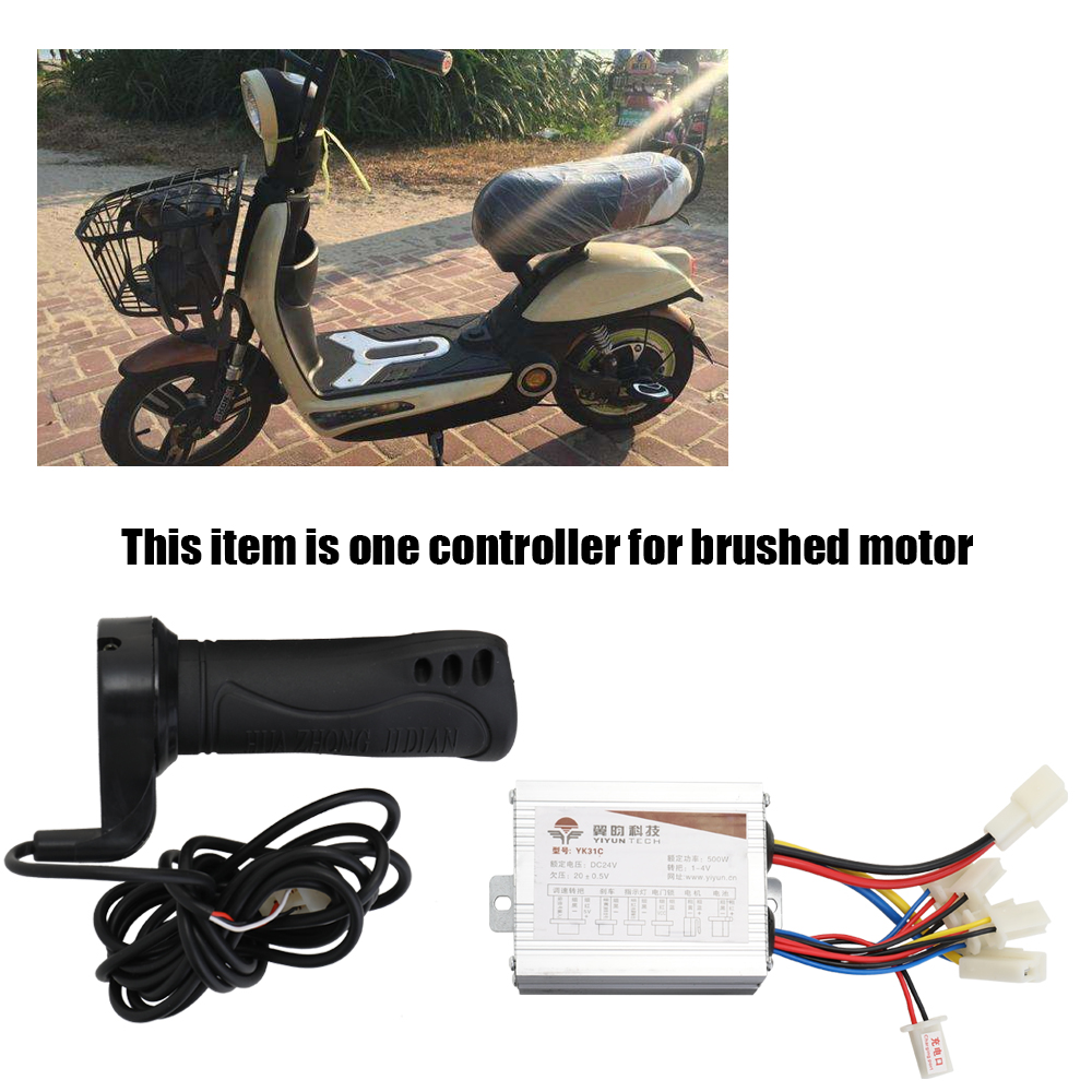 24V 500W Electric Bicycles Brushed Speed Controller Throttle Grip Set for Electric Bicycles Scooter E bike Motor in Controllers from Automobiles Motorcycles