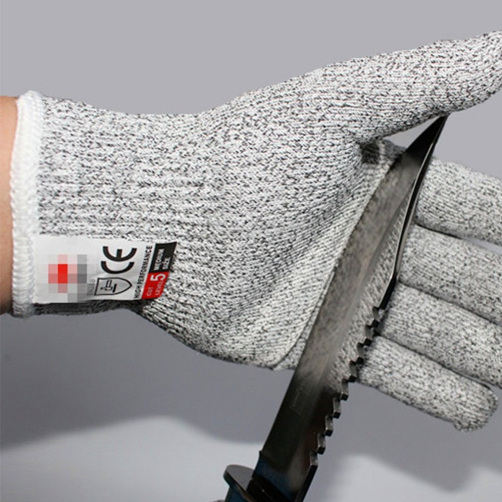 1 Pair Anti-cut Gloves Cut Proof Stab Resistant Level 5 Protection Food Grade Safety Gloves Anti-slip Kitchen Cuts Gloves high quality cut proof labor gloves breathable protective gloves 1 pair wear resistant anti slip nitrile coating knitted gloves