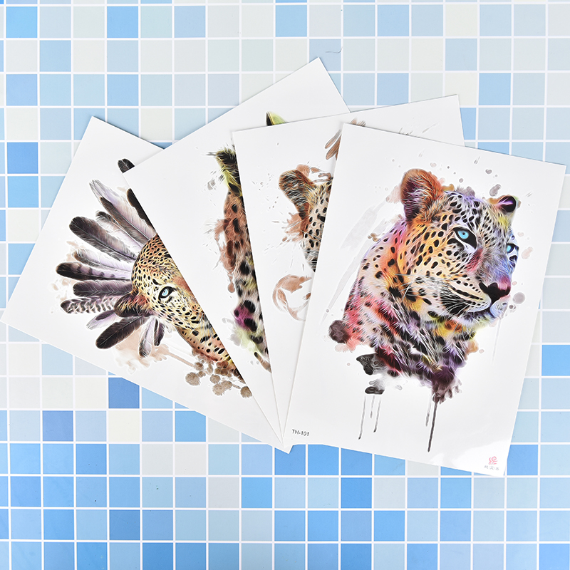 4fc25a5ed 1Pc Waterproof Fake Hand Tattoos Adult Men Women Body Art NEW Leopard Tiger  Pattern Waterproof Temporary Tattoo Stickers-in Temporary Tattoos from  Beauty ...