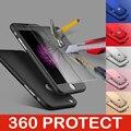 Novo telefone móvel 360 graus proteja hard ultra protetor de tela fina filme de vidro temperado para iphone5 5e 5S 6 6 s 7 7 plus