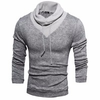 2017 High Necked Sweater Fashion Knitted Korean Long Sleeved High Necked Sweater Men S Long Sleeved