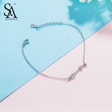 SA SILVERAGE 925 Sterling Silver Charm Bracelets & Bangles for Women Fine Jewelry Cupid