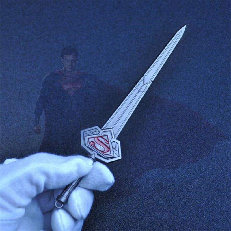 Novelty & Special Use Superhero Movie Superman Cosplay Costume Props Sword Weapon Metal Toy Fancy Gift Key Chain Costume Props