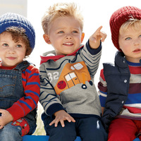 Autumn new children's clothing children's long sleeve cap boy protective clothing cartoon pure cotton