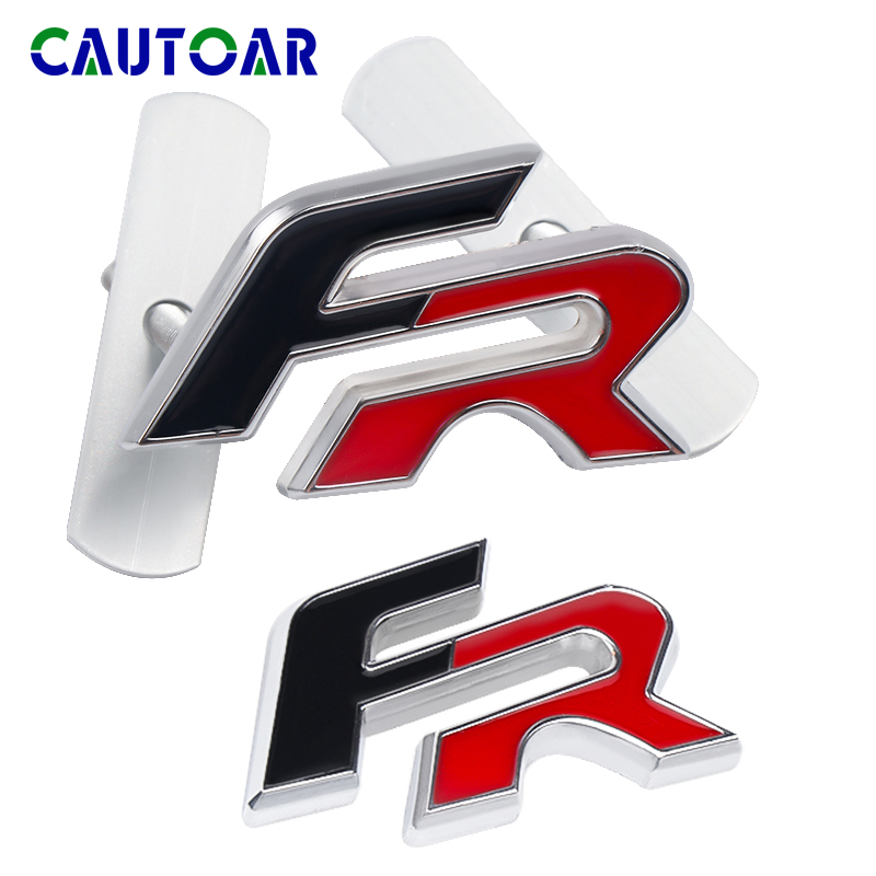 3D Chrome Metal FR Front Grille Emblem Badge For Car Side Fender Tail Sticker FR Decal For Seat Ibiza Altea Leon Car Styling