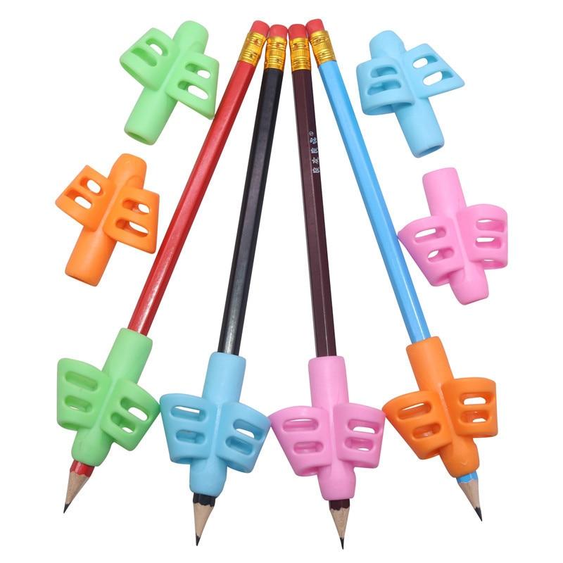 8 Pcs Pen Grip Holding Pen Holder Double Finger Pen Holder Student Writing Pen Correction Device Writing Posture Correction Tool