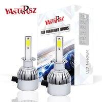 YASTARSZ 2Pcs H4 LED H7 H11 H1 H3 9005 9006 Auto Car Headlight 72W 8000LM High