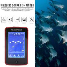 80 Meters Wireless Touchscreen Sonar Fish Finder Probe HD Super-Large Screen Detector Fishing Underwater Detection Fishing Tool