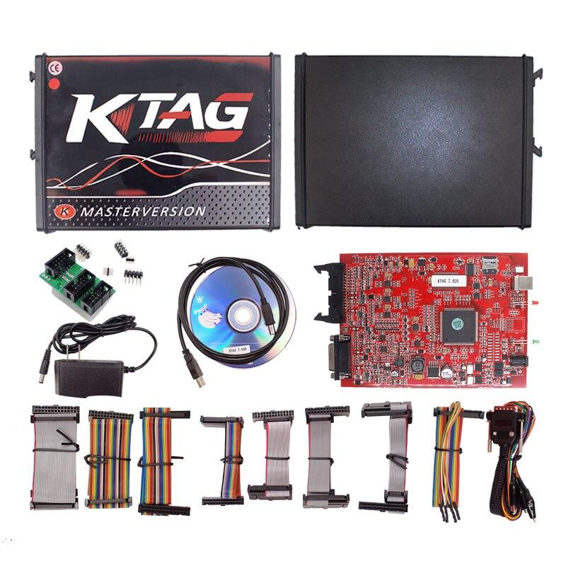 2019 le plus récent Ktag V7.020 V2.25 ECU programmeur k-tag V7.020 2 lumière LED Ktag 7.020 maître en ligne avec fonction GPT pas de jetons