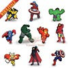 100pcs Lot Avengers Hulk America Captain Decoration Pins Badges Brooches Collection Kid S Gift DIY Charms