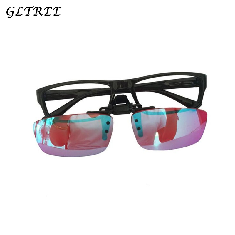 GLTREE Men Women Color Blind Clip on Eyeglasses Red Green Blindness Weakness Glasses Correction Colorblind Driver