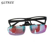 GLTREE Men Women Color Blind Clip on Eyeglasses Red Green Blindness Weakness Glasses Correction Colorblind Driver Eyewear G406