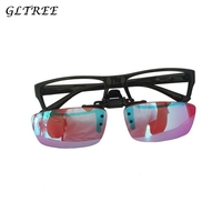 GLTREE Men Women Color Blind Clip on Eyeglasses Red Green Blindness Weakness Glasses Correction Colorblind Driver Eyewear G406