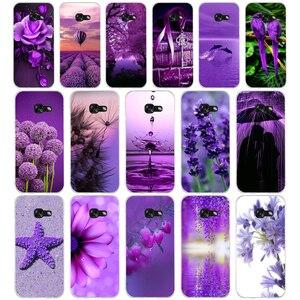 236WE Королевский Фиолетовый Мягкий Силиконовый ТПУ чехол для телефона Samsung A3 A5 2016 A3 A5 2017 A7 A8 2018 A50