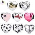 2017 Nuevos 925 Sterling Silver Skeleton Encantos Del Corazón cupieron Las Pulseras y Collar para Las Mujeres Engagement Accesorios PAS001