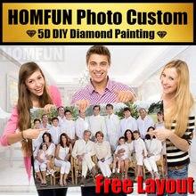 HOMFUN foto bordado de diamantes de manualidades venta completa de pintura de diamante de punto de cruz Kits foto de diamante de imitación 5D regalos Decoración