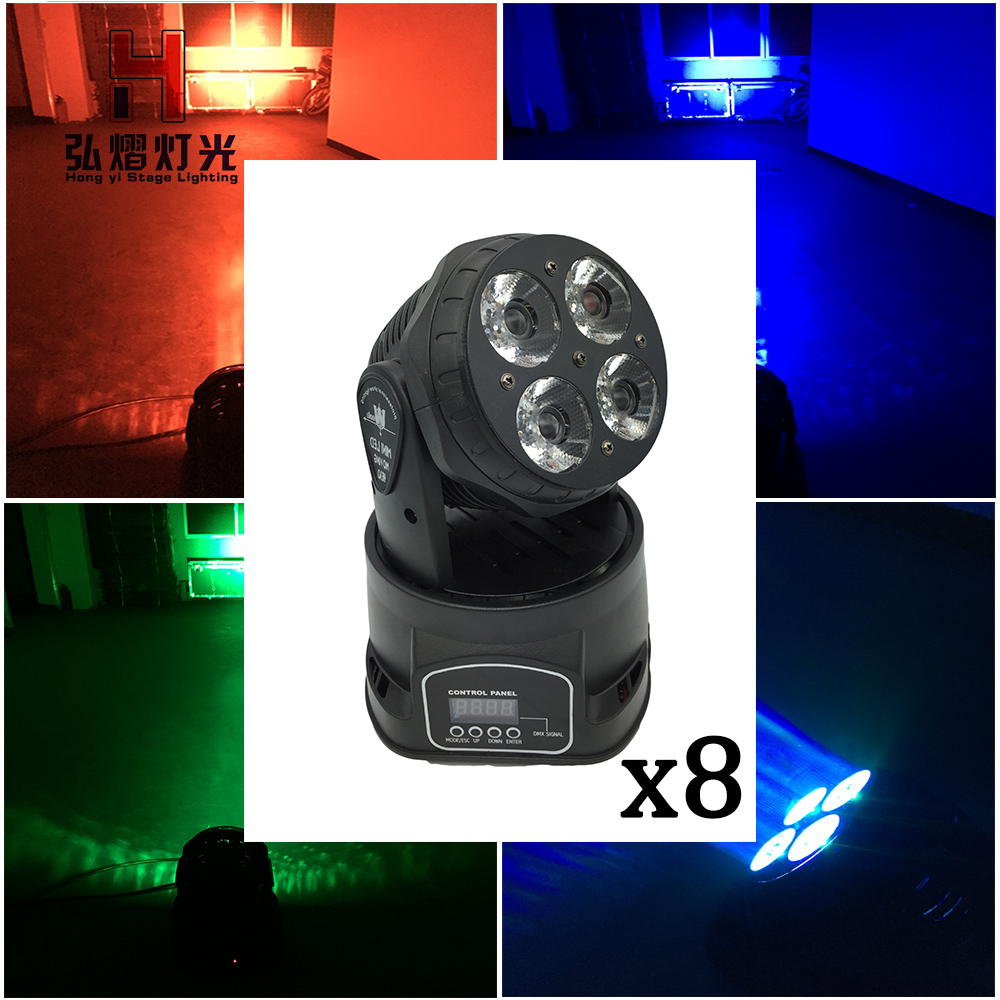8 pcs/lot DMX stage light Night Club party moving head light 4x20w beam dj disco 6pcs lot white color 132w sharpy osram 2r beam moving head dj lighting dmx 512 stage light for party