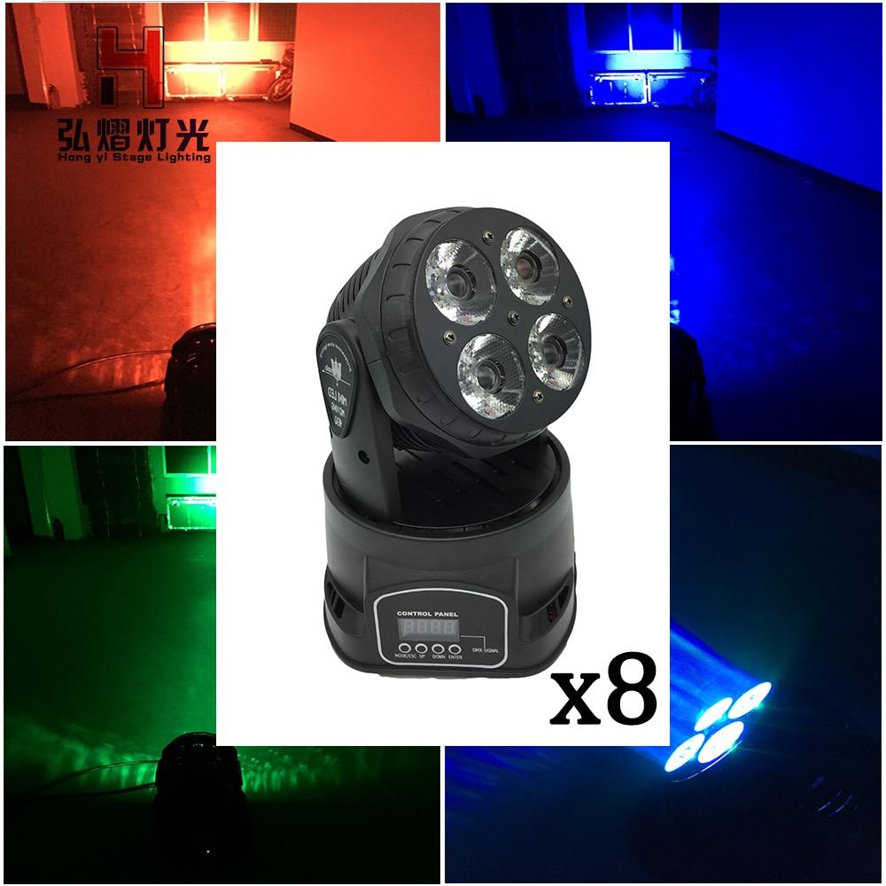 8 pcs/lot DMX stage light Night Club party moving head light 4x20w beam dj disco