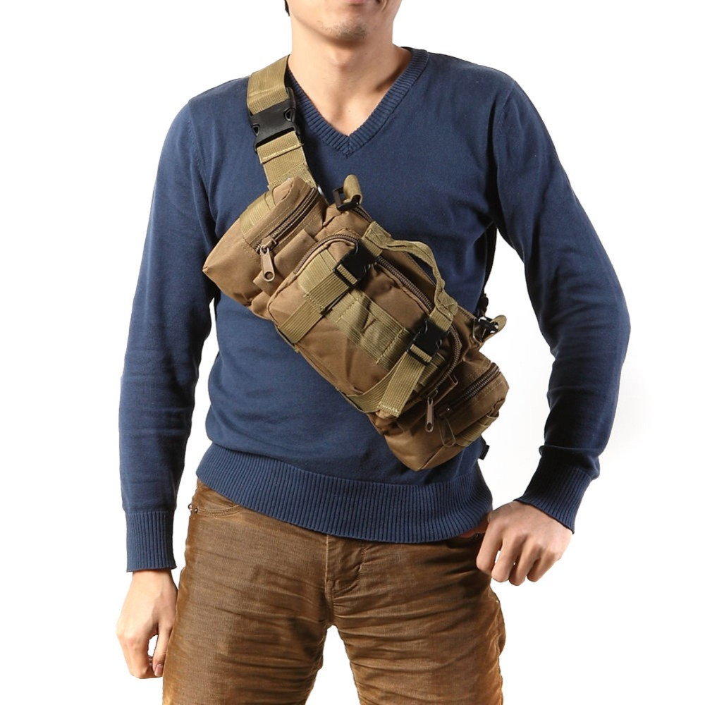 Outdoor Military Tactical Waist Bag Pack 3L Waterproof Molle Camping Hiking Pouch Back Pack Bag Waist Bags Mochila Military Bags