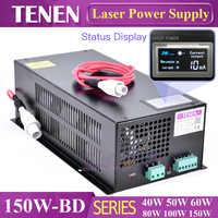 150W-BD avec écran d'affichage CO2 Laser alimentation 150 W 120 W 130 W 110 V/220 V haute tension gravure Machine de découpe Laser Tube