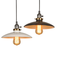 Creative flying saucer Style Pendant Lamp Retro Iron Knob switch E27 Pendant light For Restaurant Bar Warehouse Coffee Shop