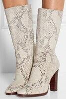 Ladies shoes Women boots High heels Platform Shoes Sapatos femininos Fashion Women Shoes Mid Calf Spring Autumn Botines Mujer