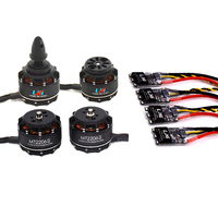 LHI FPV 4x MT2206 2300kv CW CCW FPV Brushless Motor 2 4S 4pcs 30A ESC Speed