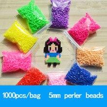 PUPUKOU Bolsa de 5mm de perlas de Hama, juguetes educativos para niños, 36 colores, garantía de calidad de 100%, 1000 unidades