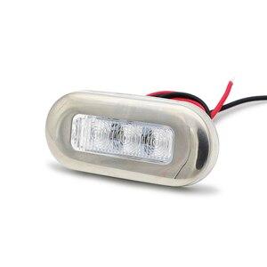 Image 3 - 1 par de aço inoxidável led luzes de navegação sinal aviso lâmpada para 12 v barco marinho iate