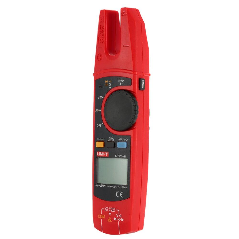 Tools : UNI-T UT256A UT256B Ture RMS Digital Clamp Fork Meter Multimeter AC DC Voltage Current Resistance Capacitance NCV Test Backlight