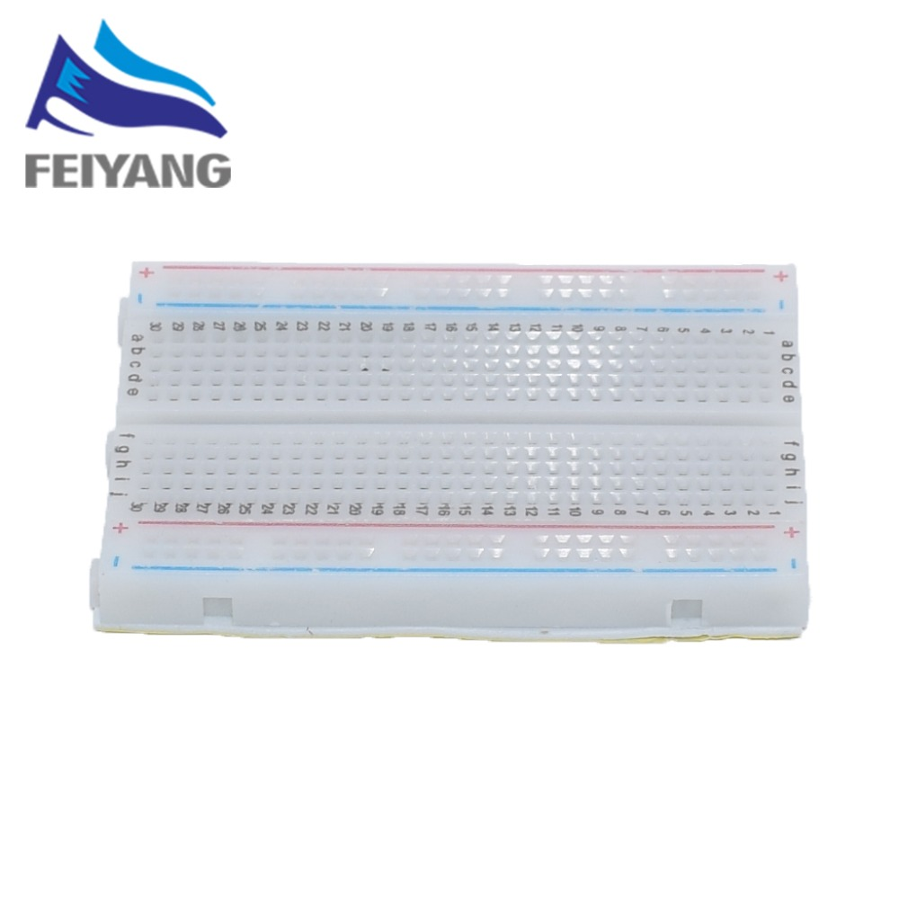 1pcs Quality mini bread board / breadboard 8.5CM x 5.5CM 400 holes Transparent/White DIY цены