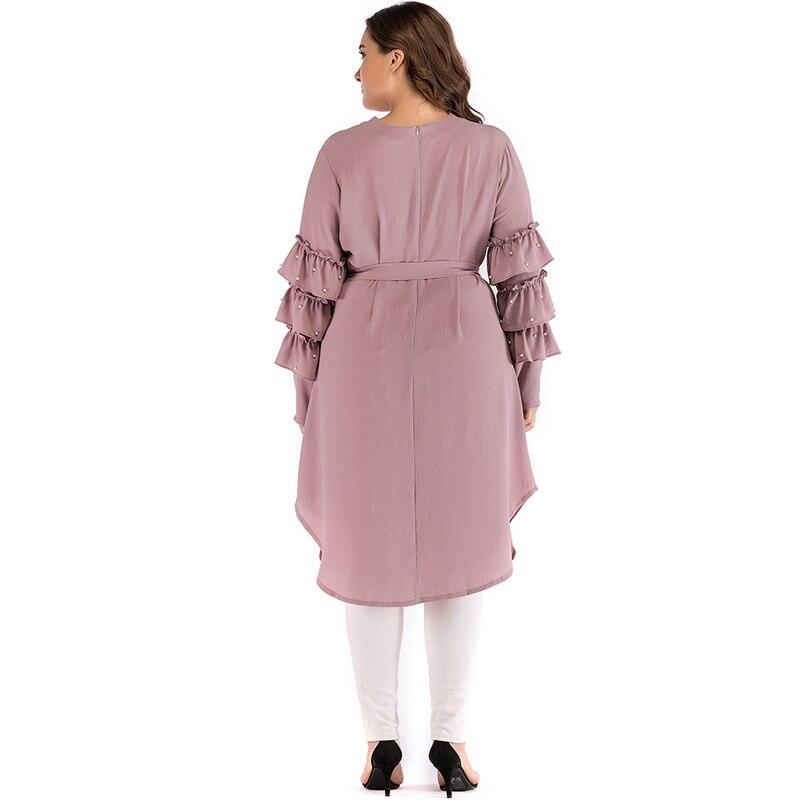 Женское платье-Кафтан Abaya, мусульманское платье-хиджаб, платье-кафтан, Арабская одежда, турецкая исламская одежда, 2019
