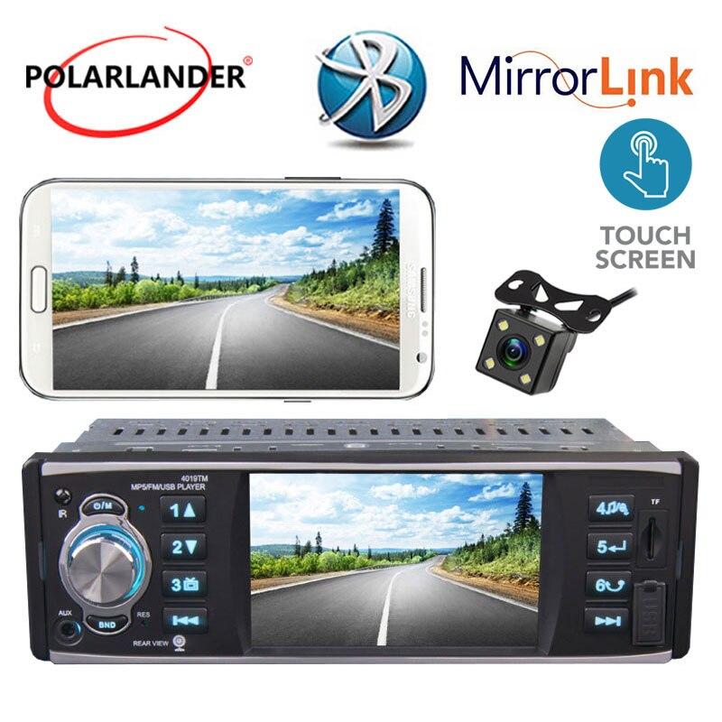 Lecteur de cassette radio 4 pouces HD USB/SD/FM/RDS 1 Autoradio Din écran tactile lien miroir Autoradio stéréo Bluetooth MP5 lecteur Ha