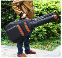 Portable good quality 39 40 41 inch acoustic guitar gig bag case PU backpack shoulder padded protection waterproof soft cover