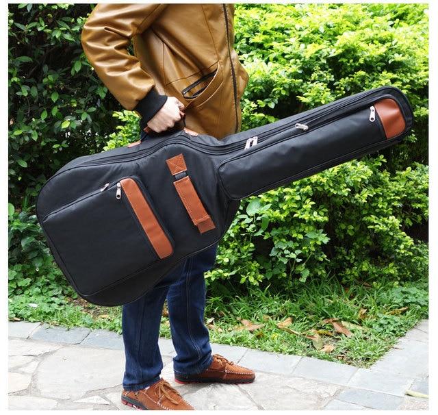 Portable Good Quality 39 40 41 Inch Acoustic Guitar Gig Bag Case Pu Backpack Shoulder Padded