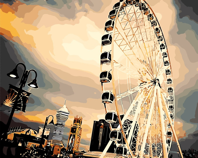 Art Picture Home Decor sky wheel landscape Wall Painting On Canvas ...