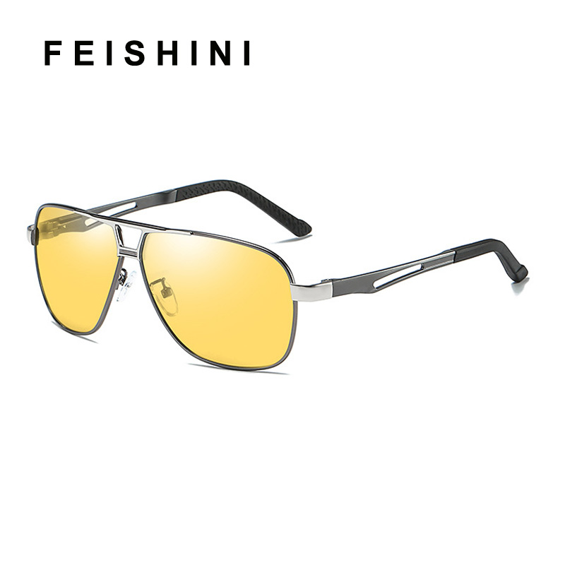 ee3117a993 Quality Day Night Vision Goggles Driver Eyeglasses Polarized Sunglasses Men  Yellow Car Driving Glasses Photochromic Outdoors-in Sunglasses from Men s  ...