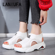 Women Sandals shoes flats Breathable Mesh Comfort Shopping W