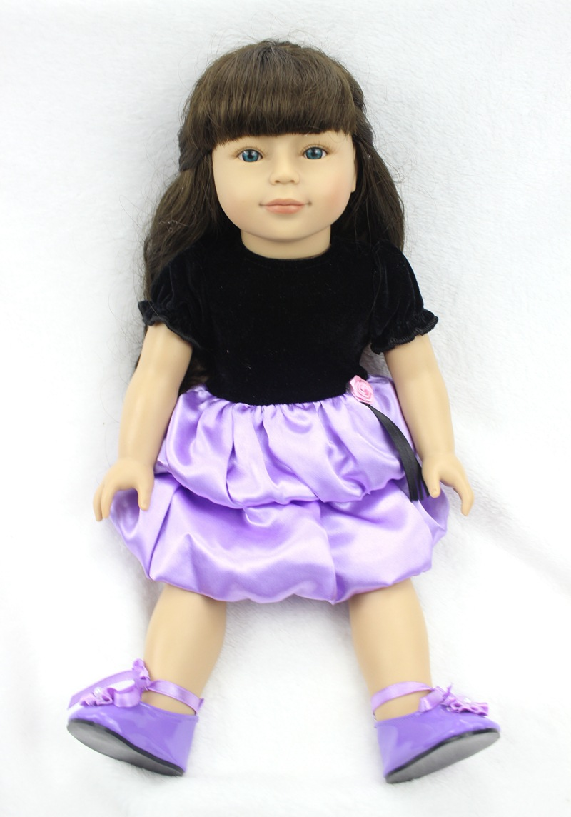 Pursue 18 Inch /45 cm Brand American Girl Baby Doll Newborn Lifelike Baby Doll Toys Best Gift for Girls Playmate Fashion Doll pursue 18 new design lifelike american girl baby doll naked plastic american baby girl princess doll toy gift for children girl