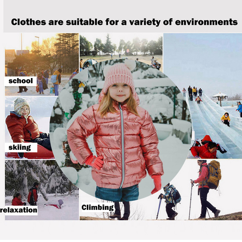 HH Girls winter coat parka kids pink gold silver down jacket for boy teenage winter jackets snowsuit russia jacket 2 8 10 years in Down Parkas from Mother Kids