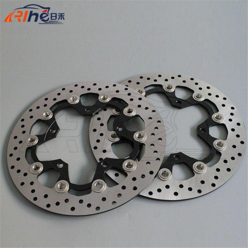 Aluminum alloy inner ring & Stainless steel outer ring motorbike front brake disc rotos For SUZUKI GSR600 2006 2007 2008 2009