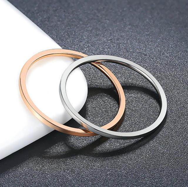 Retro Stainless Steel Rings For Women Men Titanium Ring Korean Style Dating Couple Rings Jewellry Simple Fashion Jewelry R826 2