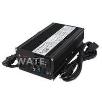 33.6 V 16A Carregador de iões de Lítio Carregador carregador de bateria para 8 S 29.6 V Li-ion Battery ebike equilíbrio bateria EV carregador