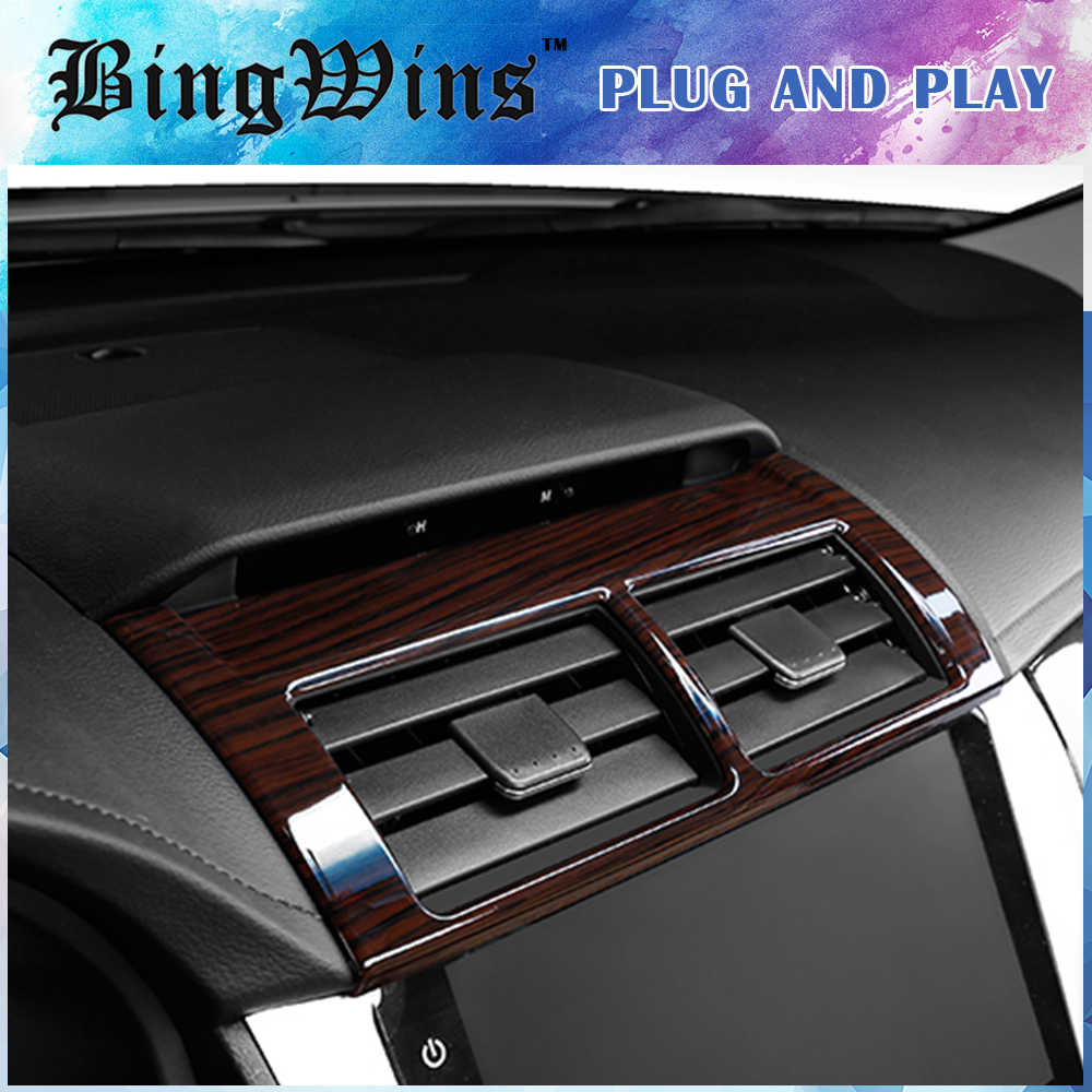 Car Interior Dashboard Air Conditioner Outlet Vent Frame Trim Cover Styling For Toyota Camry 2015 2016 ABS Car covers Auto Parts